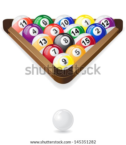 billiards balls vector illustration isolated on white background - stock vector