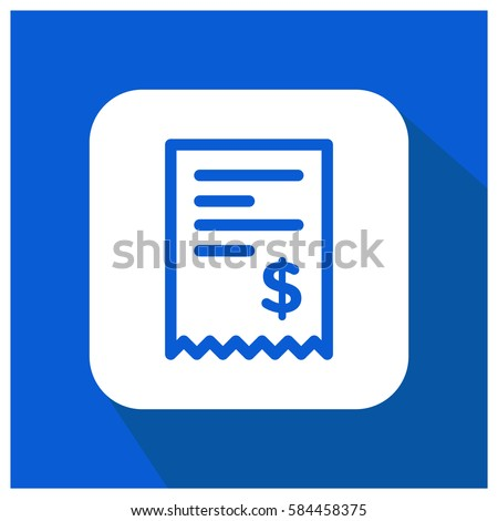 billing vector icon money invoice symbol stock vector 584458375