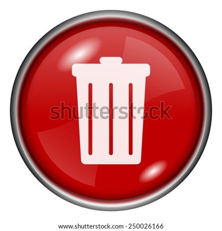 Bin icon. Internet button on white background.  - stock vector