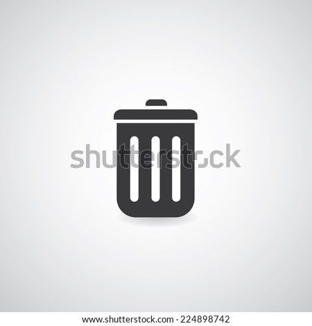 bin symbol on white background  - stock vector