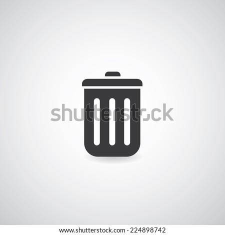 bin symbol on white background  - stock vector