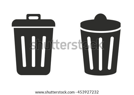 Bin vector icon. Illustration isolated on white background for graphic and web design. - stock vector