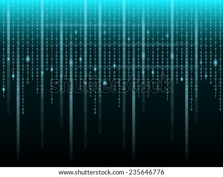 Binary code   - stock vector