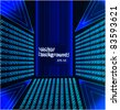 Binary code 3D background blue vector illustration - stock photo