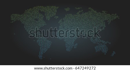 Binary code world map background zero vectores en stock 647249272 binary code world map background zero and one abstract symbols coding programming concept vector gumiabroncs Image collections