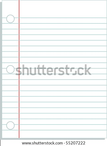 binder perforated paper blank template - stock vector