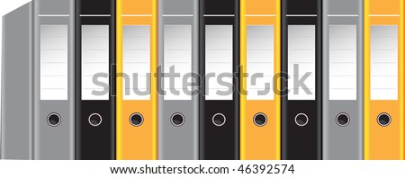 Binders - stock vector
