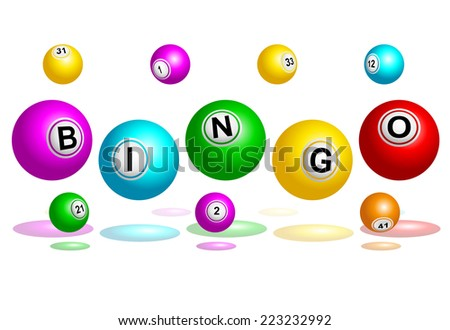 Bingo balls spelling out Bingo word vector illustration  - stock vector