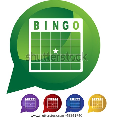 Bingo card web button isolated on a background - stock vector