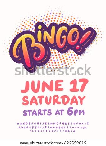 Bingo Night Poster Template Stock Vector 622559015 Shutterstock