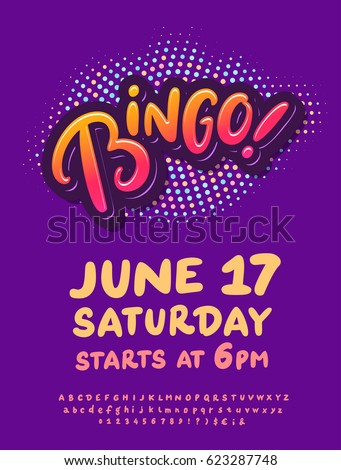 Bingo night poster template stock vector 2018 623287748 shutterstock saigontimesfo