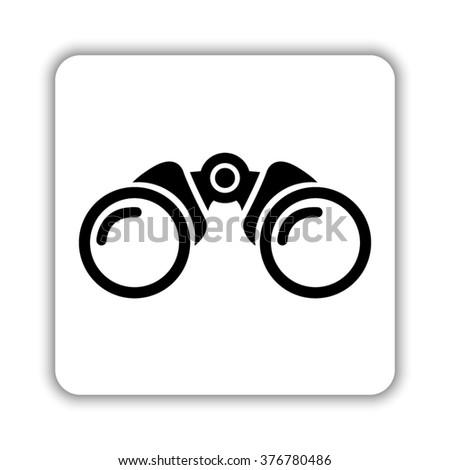 Binocular  - black vector icon - stock vector