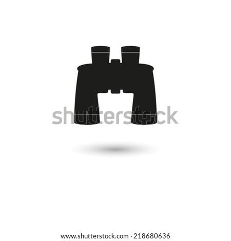 Binocular  - vector icon - stock vector