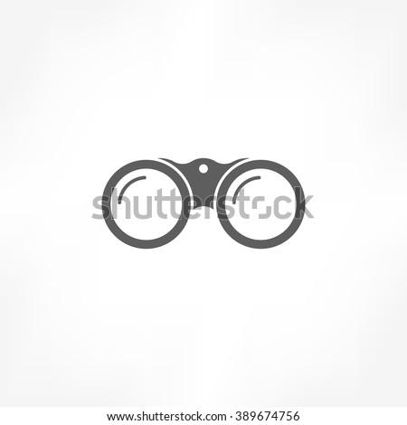 binoculars icon - stock vector