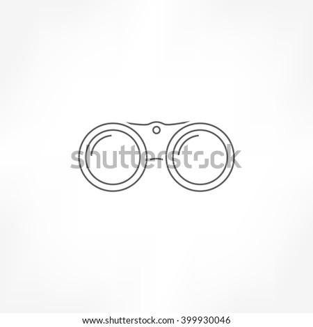 binoculars icon, vison icon , sight icon - stock vector