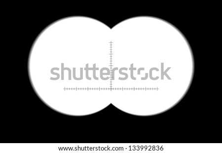 Binoculars with blurred edges. Vector illustration. - stock vector