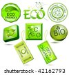 Bio and eco labels - stock vector