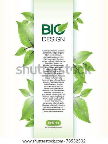 Bio Concept Design - stock vector