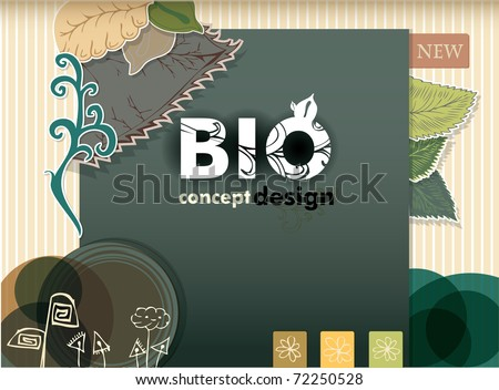 bio concept design eco friendly - stock vector