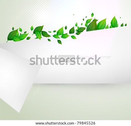 bio concept design eco friendly for summer floral banner - stock vector