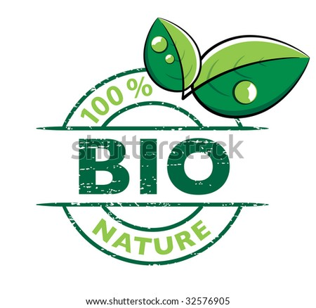 BIO design with leaves - stock vector