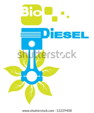 Bio Diesel Icon Logo - stock vector