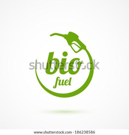 Bio fuel icon. Vector illustration - stock vector