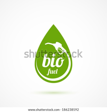 Bio fuel icon. Vector illustration - stock vector