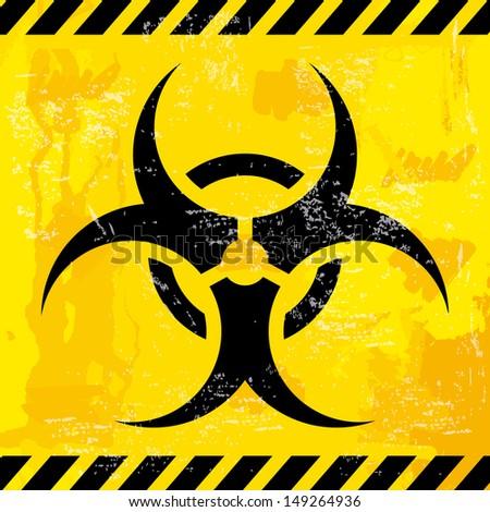 bio hazard design over yellow background vector illustration  - stock vector