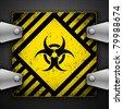 Bio-hazard sign. Vector illustration. - stock photo