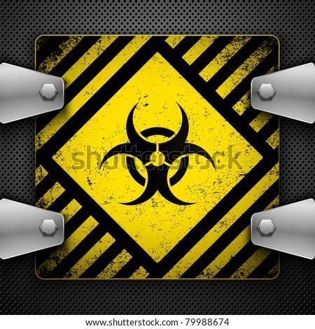 Bio-hazard sign. Vector illustration. - stock vector