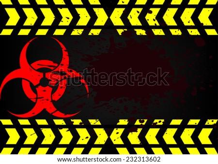 bio hazard symbol dirty blood - stock vector
