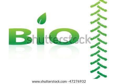 bio icon design - stock vector