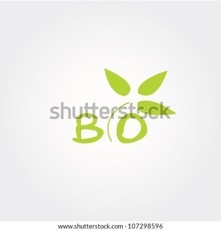 bio icon, vector bio icon, - stock vector