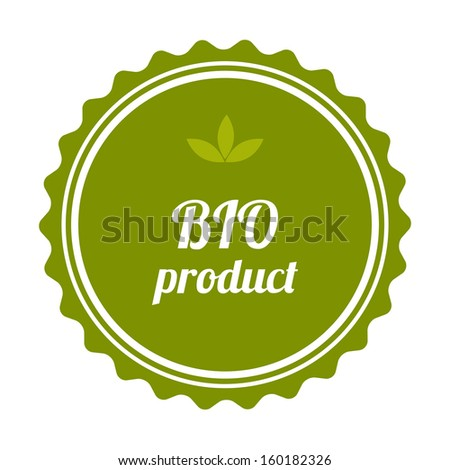 BIO product badge and label. Vector illustration.  - stock vector