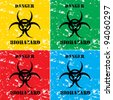 biohazard background vector illustration - stock photo