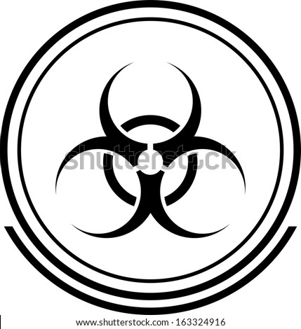 Biohazard button black