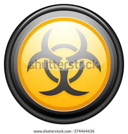Biohazard button sign - stock vector