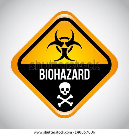 biohazard design over gray background vector illustration  - stock vector