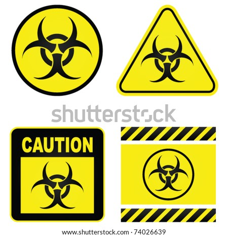 Biohazard   signs - stock vector