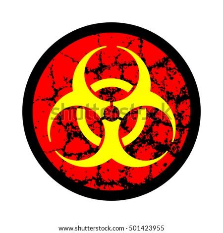 Biohazard Symbol Icon Web Buttons Biohazard Stock Vector 501423955