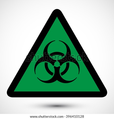 Biohazard Symbol On Background Isolated Vector Stock Vector
