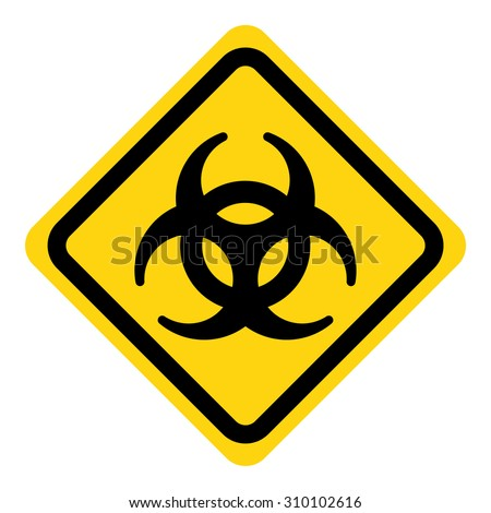 Biohazard symbol sign of biological threat alert - stock vector