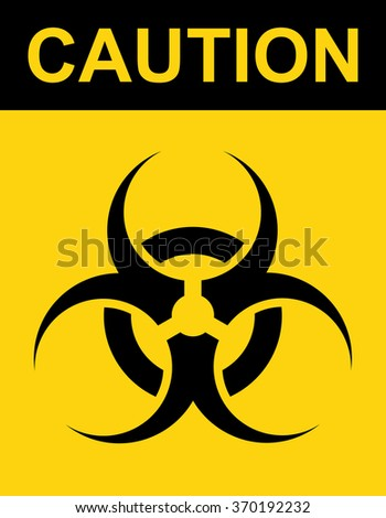 Biohazard Symbol Sign Biological Threat Alert Stock Vector 370192232