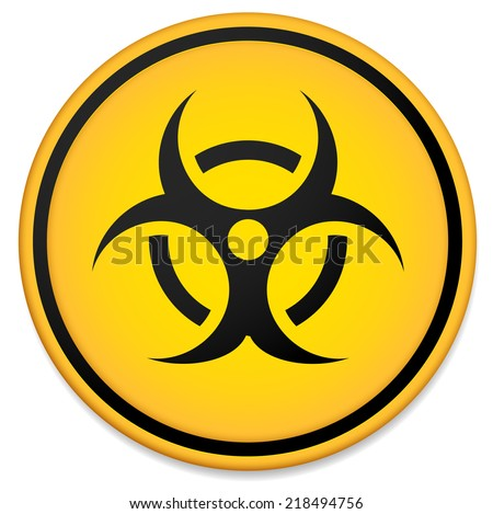 Biohazard symbol. Virus, infection, bacteria, contagion, toxic, waste, quarantine, contamination, epidemic concepts - stock vector