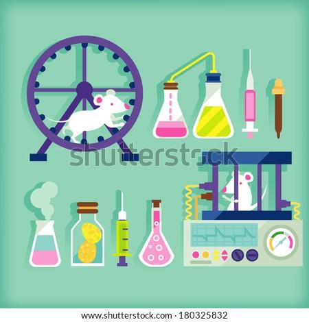 biology laboratory - stock vector