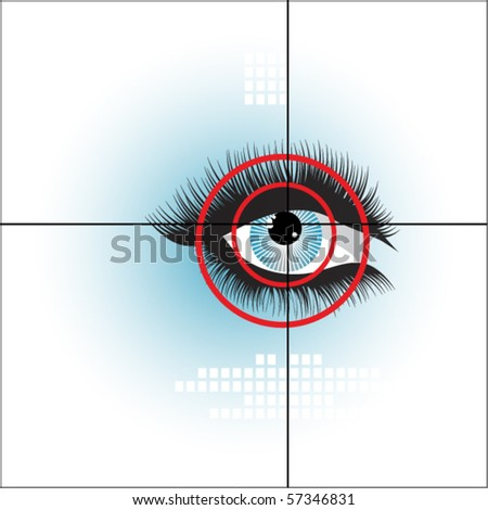 biometric eye - stock vector