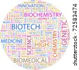 BIOTECH. Word collage on white background. Vector illustration. Illustration with different association terms. - stock photo
