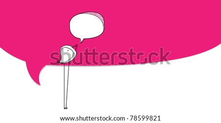 Bird bubble, vector EPS10. - stock vector
