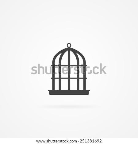 Bird cell icon. - stock vector